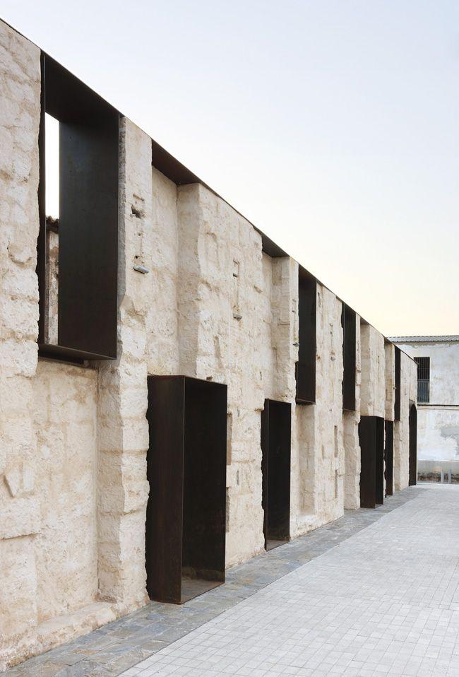 Stone and corten facade - Can Ribas by Jaime J. Ferrer Forés - Palma de Mallorca, Spain