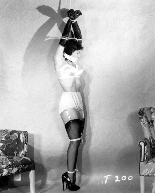 Classic bondage actress