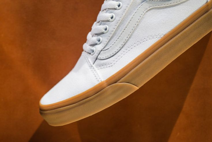 Simplicity: The Vans Old Skool Rocks A White Canvas And Gum Sole • KicksOnFire.com