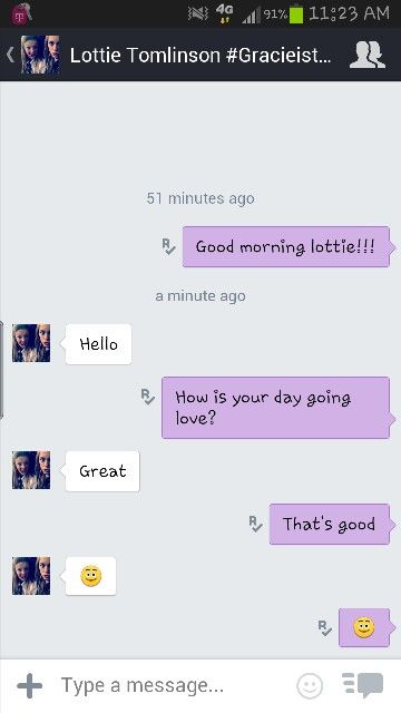 AHHHHHH LOTTIE IS KIK MESSAGING ME!!!!! IM SO EXICTED ...
