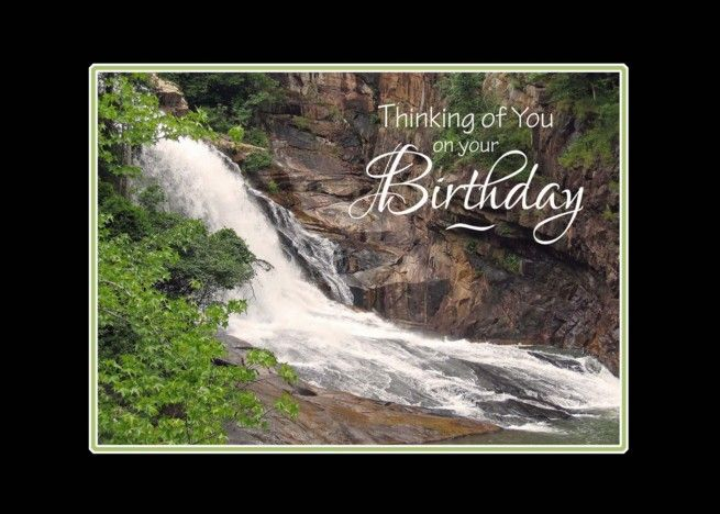 Birthday Thinking Of You Waterfall Card With Images Waterfall