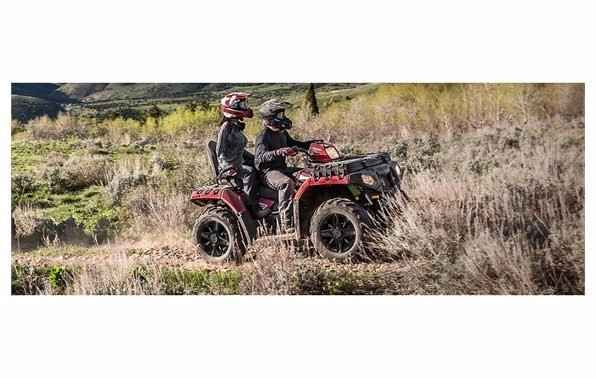 New 2017 Polaris Industries Sportsman Touring 850 SP ATVs For Sale in California. Powerful 78 Horsepower ProStar 850 Twin EFI EnginePremium SP Performance Package with Integrated Passenger SeatHigh Performance Close Ratio On-Demand All Wheel Drive (AWD)