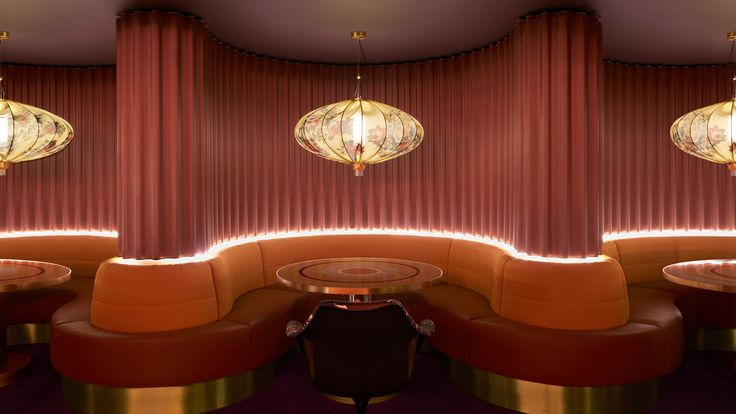 Dimore Studiotook cues from the decadent 1960s nightlife spots on the French Riviera for therose-tinted interiors of this London members' club.