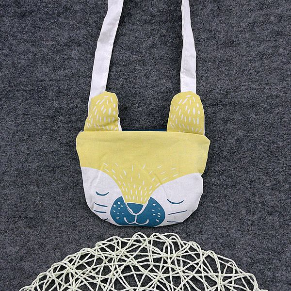 Sale 29% (8.99$) - Lovely Yellow Kids Portable Shopping Bag Shoulder Bags Crossbody Bags