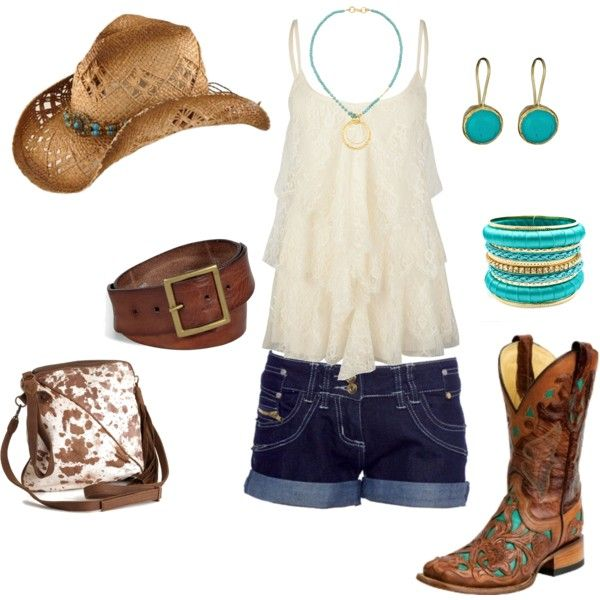 Cotton Eyed Joe, created by sday157 - Love this country girl look! I WANT THOSE BOOTS