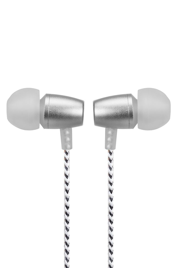 White/Silver Allure In-Ear Noise Isolating Earbuds