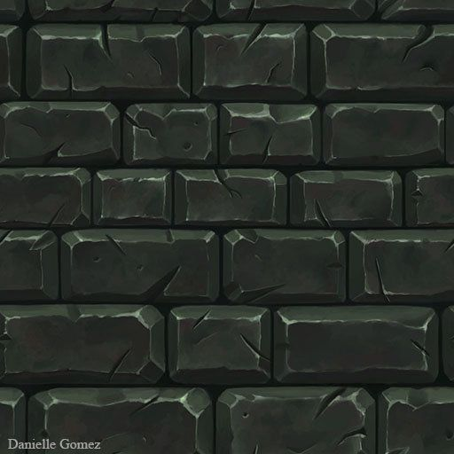Hand Painted Stone Tiles, Danielle Gomez on ArtStation at https://www.artstation.com/artwork/hand-painted-stone-tiles