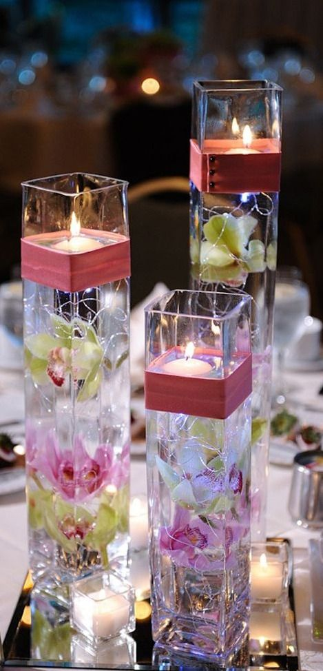 floating candles...
