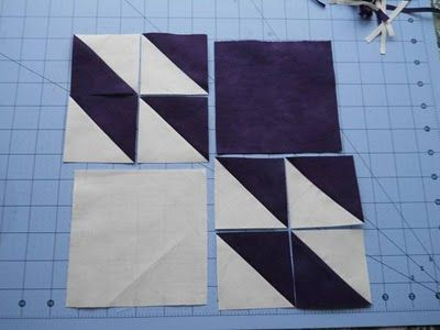 Hunter's Star tutorial ( Half Square Triangles - 4 at a time) by Cascade Quilts