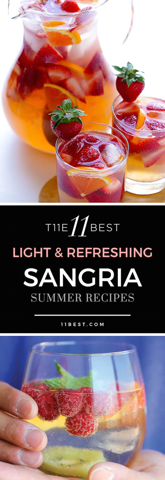 The 11 Best Refreshing Sangria Summer Recipes - Repinned by: http://www.barvivo.com/ (The highest quality within Bar & wine accessories.)