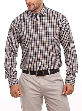 Brought to you by Color Plus this shirt is apt for all the formal occasions. This formal shirt is so comfortable and light that you would want to wear it all day. It comes with a collared neck pattern which adds a touch of class to your personality. Featuring checkered designs this shirt will complete your corporate look. Team this regular-fit cotton shirt with a pair of gray trousers and black shoes. Men who love flaunting their masculine personality must invest in this shirt since it is a…