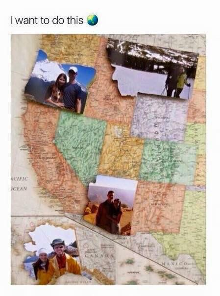 I want to do this. Travel/vacation to every state and take a picture and fill out the map