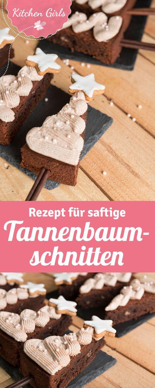 Rezept für Tannenbäume aus schokladigem Kuchen zu Weihnachten.  – Essen & Rezepte