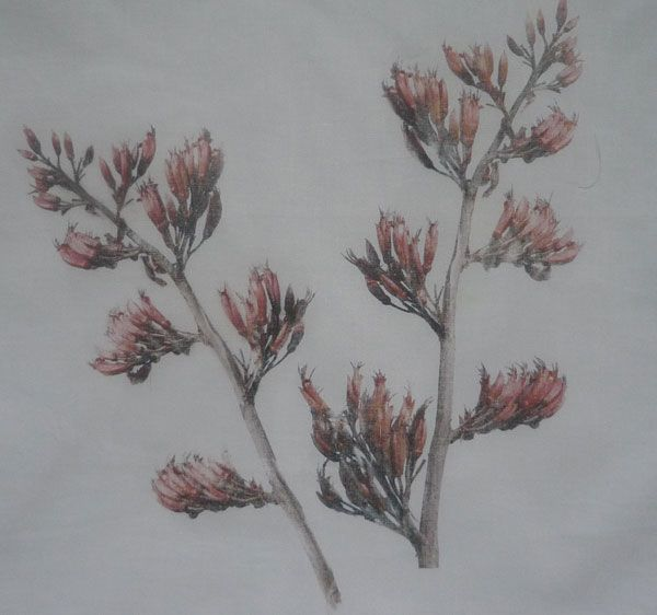 Flax Flower Transfer using an Australian product called citrasolv.