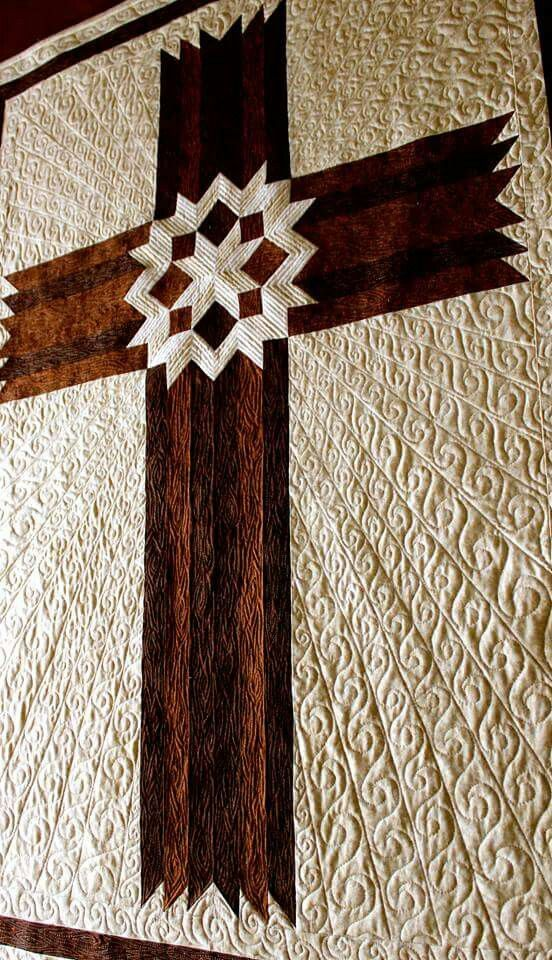 Quilting on Cross Background