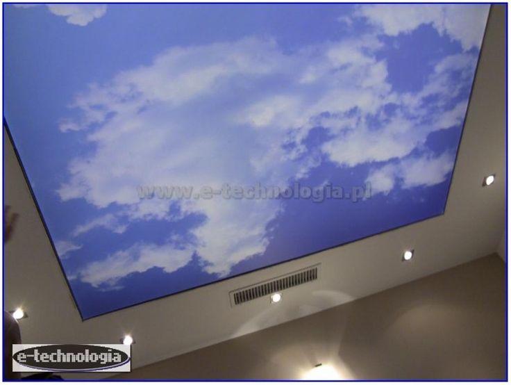 sufit w gabinecie - sufit ze zdjęciem w gabinecie - aranżowanie gabinetu e-technologia