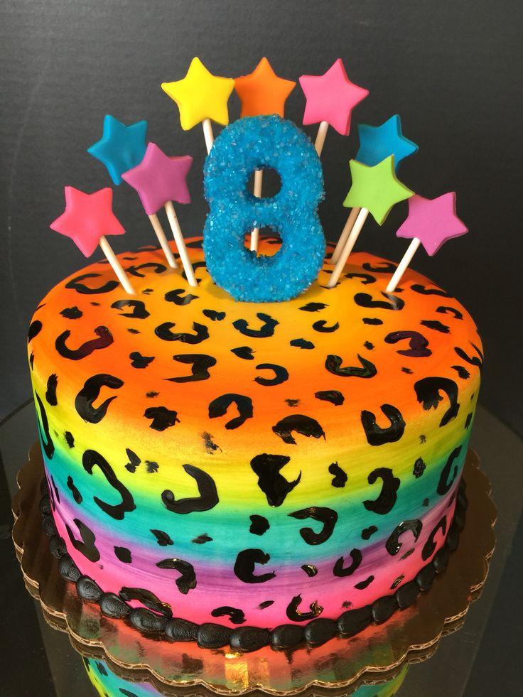 Rainbow cheetah cake #frostedflourlodica#