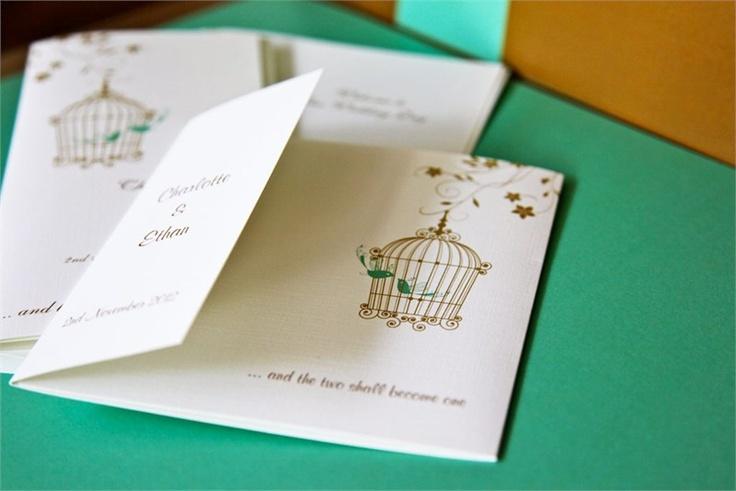 Birdcage wedding invitations