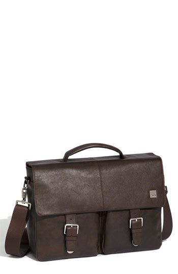 $375, KNOMO London Jackson Leather Briefcase Brown One Size. Sold by Nordstrom. Click for more info: https://lookastic.com/men/shop_items/60373/redirect