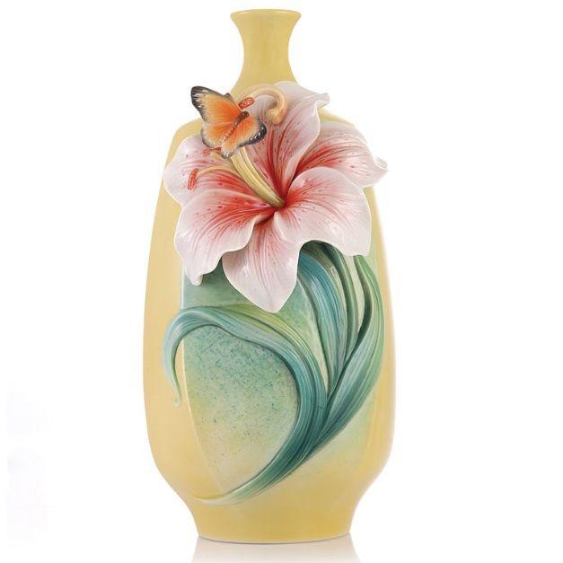 Lily Vase | Sculptured | Franz Porcelain