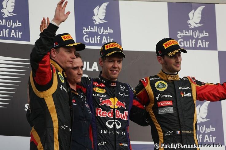 Podio  GP Bahrain 2013