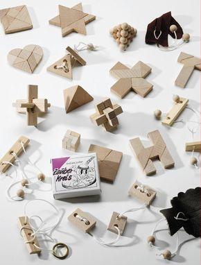 24 beliebte Geduldspiele / Knobelspiele aus Holz z.B. für Adventskalender: Amazon.de: Spielzeug