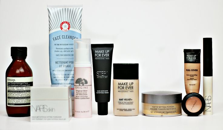 The ultimate #oilyskin skincare and makeup routine #CoverFX #NARS #MakeUpForEver #MAC #Aesop #FirstAidBeauty #Origins