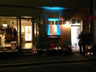 Reutlinger Kulturnacht am 23.09.2013 Handfest-Laden und Türkiser Salon bei Nacht.