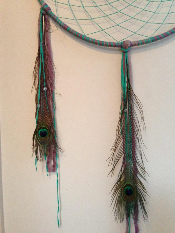Peacock feather dreamcatcher @Zamfyre Designs