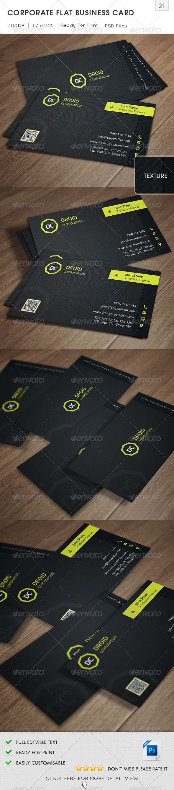 41 best name card images on pinterest advertising corporate corporate flat business card v21 black business card clean color consultant reheart Choice Image