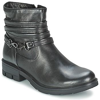 Esta bota baja de Mjus llamada Travnik es una verdadera arma de tendencia masiva. Fácil de combinar gracias a su corte en piel en color negro, uno de sus puntos fuertes. La flexibilidad de su suela de sintético la convierten en un calzado muy agradable de llevar. Se integra perfectamente en tu dressing. - Color : Negro - Zapatos Mujer 127,20 €