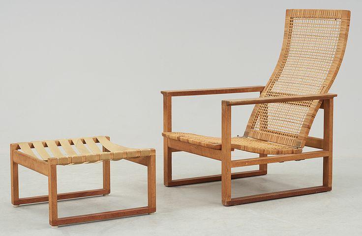 Børge Mogensen; #2256 Sled Easy Chair for Fredericia Stolefabrik, 1956