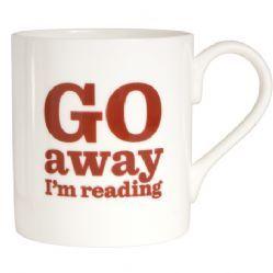 Go Away I'm Reading Bone China Mug