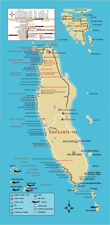 Map of Koh Lanta