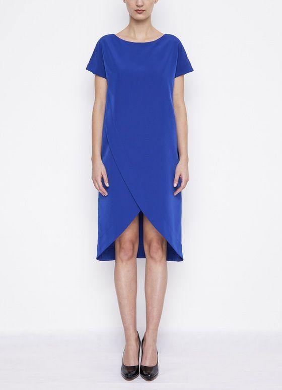 Image of Blue Wrap Dress