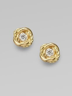 David Yurman - Diamond & 18K Yellow Gold Earrings: David Yurman, 18K Yellow, Gold Earrings Repin, Yellow Gold, Jewelry Bags, Dressing Well, Earrings Repin By Pinterest