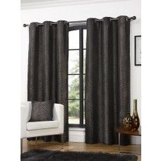 90x90in (228x228cm) Africa Animal Coco Brown Eyelet Curtains