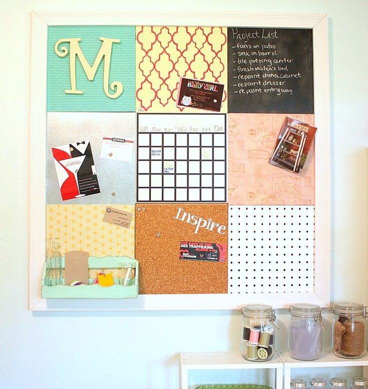 Diy Message Board Cleaning Tips Crafts The I Created For My Home Office