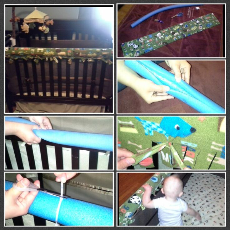 20 minute $20 no sew crib rail guard!