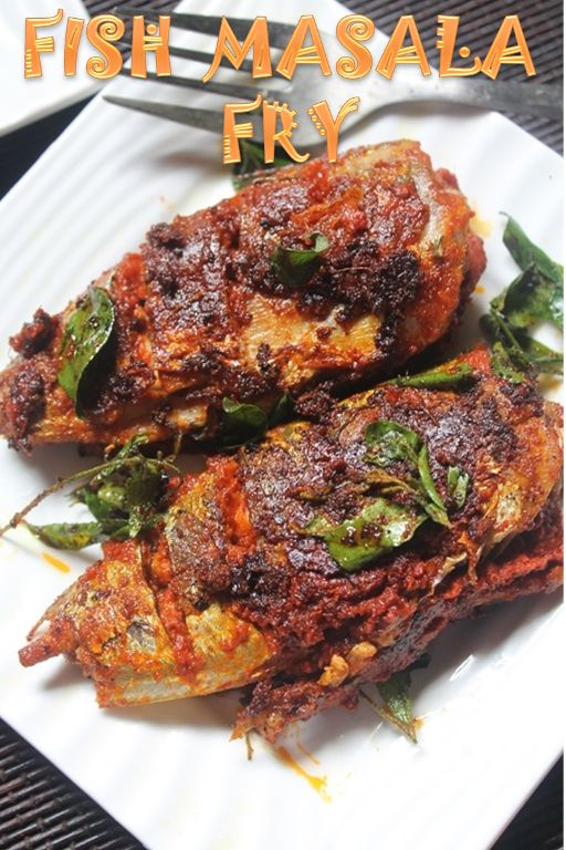 Masala Fish Fry Recipe / Spicy Fish Fry Recipe  I should admit, even though I am not a big fan of fish, I love fried fish. They are crispy and spicy and tangy and frankly they are not too fishy. I love them so much, I make them in new ways each time.