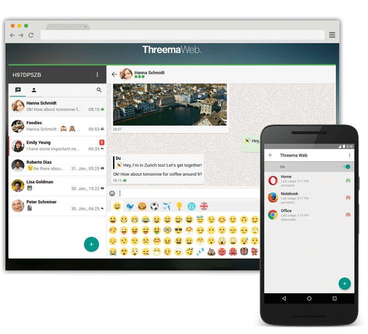 Der Threema Webclient ist vorerst nur für Android User verfügbar.