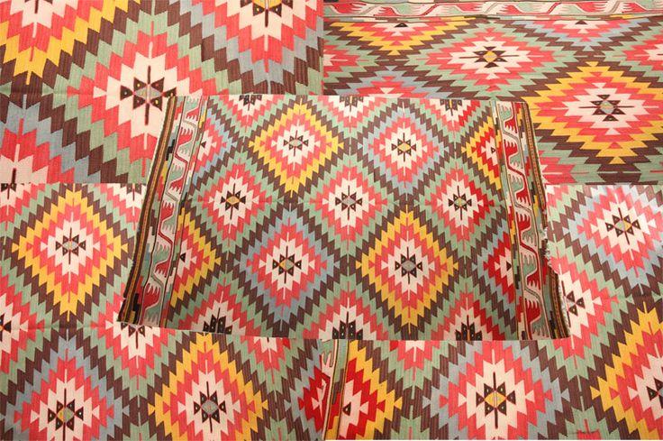 #beautiful & #decorative #turkish #kilim #rug in arrays of #colours