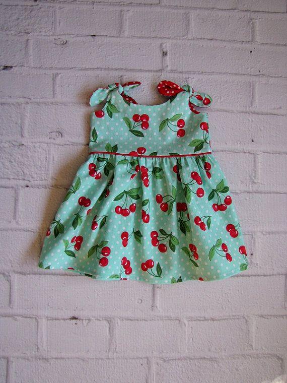 Retro Baby jurk elke grootte meisjes jurk door ThePathLessRaveled