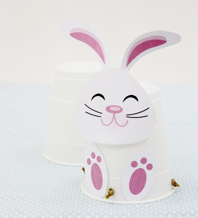 Hopping Easter Bunny craft with printable