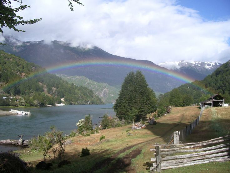 Rainbow over Lago Espolon | from Futaleufu Agritourism http://agrofuta.blogspot.com/
