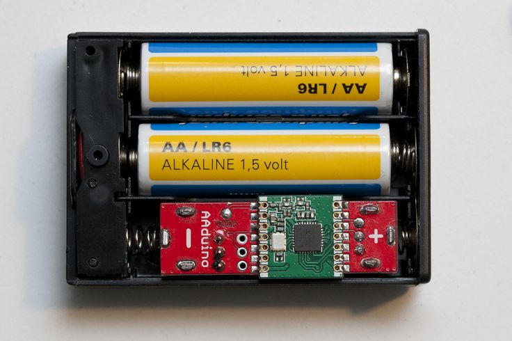 The AAduino, a battery sized wireless node. Let's make an ESP one :)