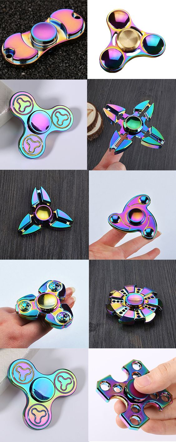 Colorful Stress Relief Toy Crab Clip Cross Fidget Finger Spinner
