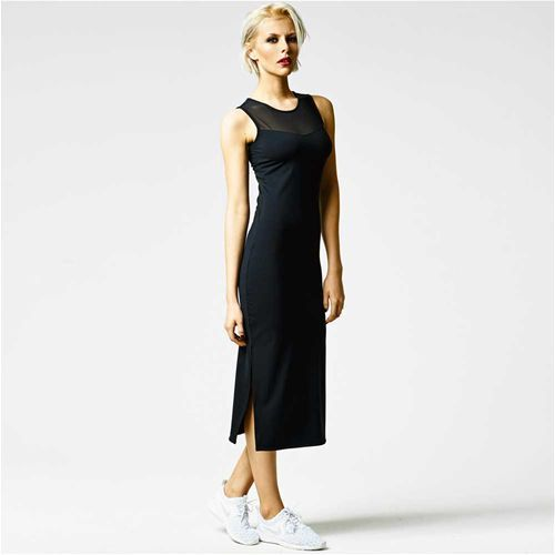 Mesh maxi dress, we all need some perfect black basics.
