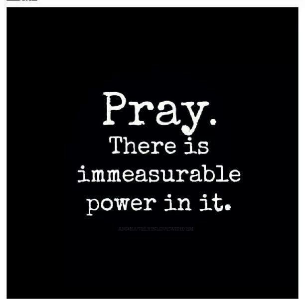 Pray. There is immeasurable power in it. #Christian #quote Pinterest:@JORDANLANAI