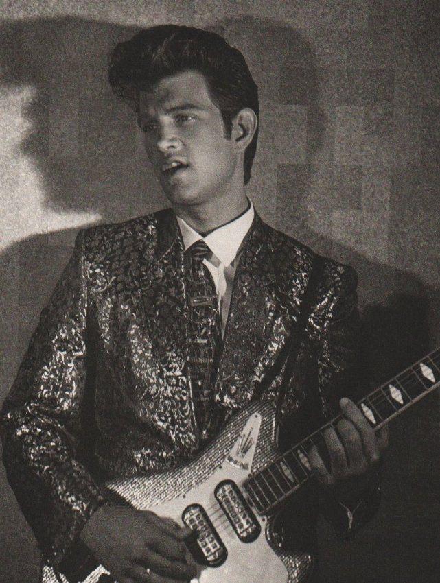 Chris Isaak, Stockton CA, 1986; photo by Bruce Weber.